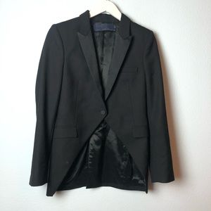 Zara black tuxedo blazer with satin lapels